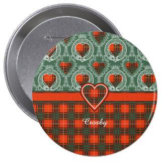 Tartán del escocés de la tela escocesa del clan de pin redondo 10 cm