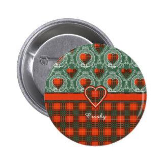 Tartán del escocés de la tela escocesa del clan de pin redondo 5 cm
