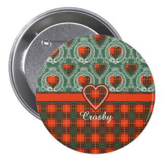 Tartán del escocés de la tela escocesa del clan de pin redondo 7 cm