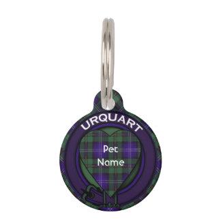 Tartán del escocés de la tela escocesa del clan de placa para mascotas