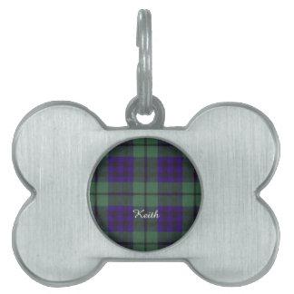 Tartán del escocés de la tela escocesa del clan de placas de nombre de mascota