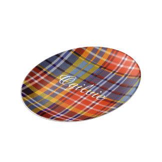 Tartán del escocés de la tela escocesa del clan de plato de cerámica