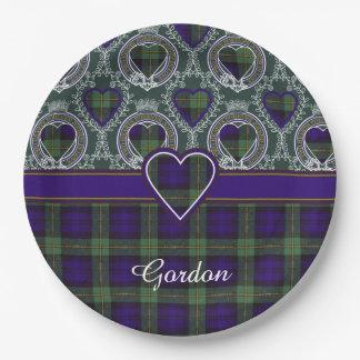 Tartán del escocés de la tela escocesa del clan de plato de papel de 9 pulgadas