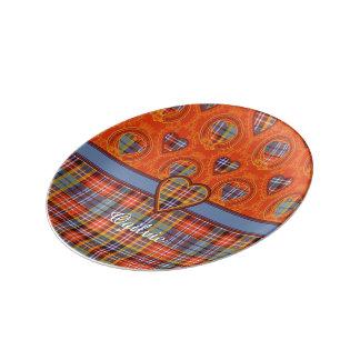 Tartán del escocés de la tela escocesa del clan de platos de cerámica