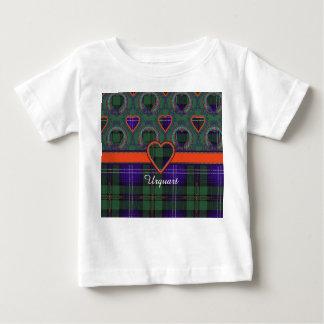 Tartán del escocés de la tela escocesa del clan de playera de bebé