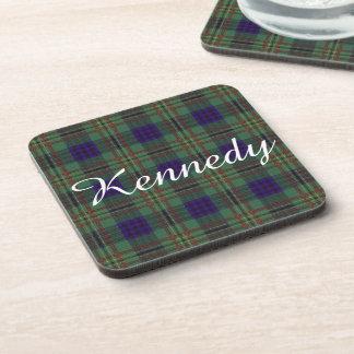 Tartán del escocés de la tela escocesa del clan de posavasos de bebidas