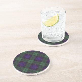 Tartán del escocés de la tela escocesa del clan de posavasos cerveza