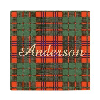 Tartán del escocés de la tela escocesa del clan de posavasos de arce