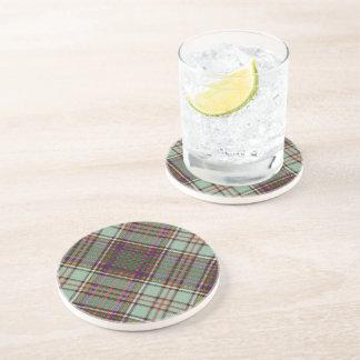 Tartán del escocés de la tela escocesa del clan de posavasos de arenisca