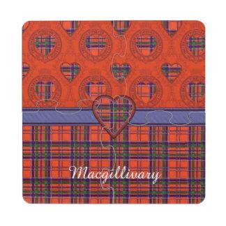 Tartán del escocés de la tela escocesa del clan de posavasos de puzzle