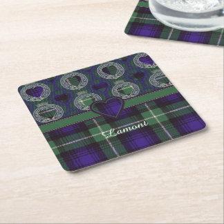 Tartán del escocés de la tela escocesa del clan de posavasos desechable cuadrado