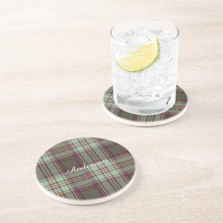 Tartán del escocés de la tela escocesa del clan de posavasos manualidades
