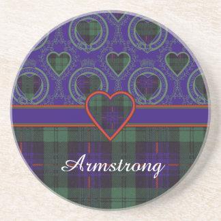 Tartán del escocés de la tela escocesa del clan de posavasos para bebidas
