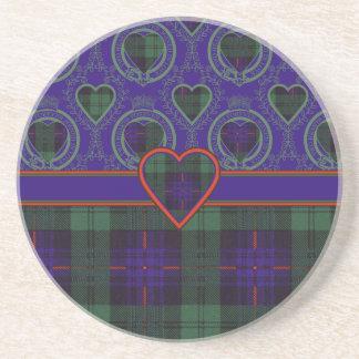 Tartán del escocés de la tela escocesa del clan de posavasos personalizados