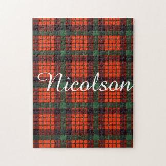 Tartán del escocés de la tela escocesa del clan de puzzles