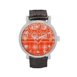 Tartán del escocés de la tela escocesa del clan de relojes de mano