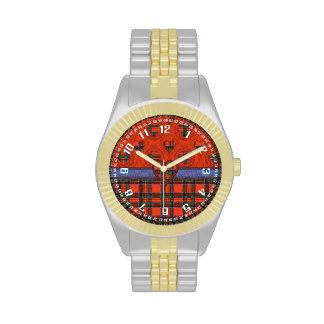 Tartán del escocés de la tela escocesa del clan de reloj de mano