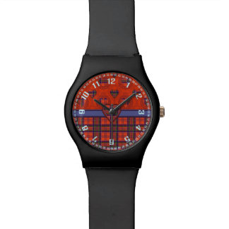 Tartán del escocés de la tela escocesa del clan de reloj