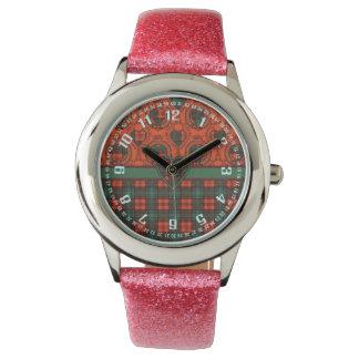 Tartán del escocés de la tela escocesa del clan de relojes de pulsera