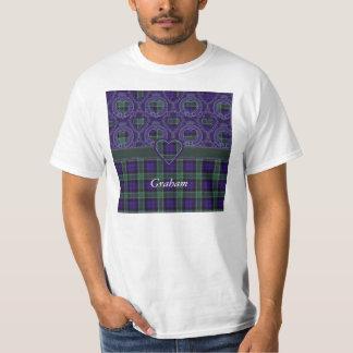 Tartán del escocés de la tela escocesa del clan de remeras