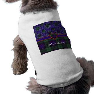 Tartán del escocés de la tela escocesa del clan de playera sin mangas para perro