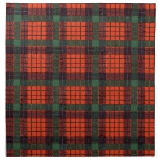 Tartán del escocés de la tela escocesa del clan de servilleta imprimida