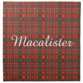 Tartán del escocés de la tela escocesa del clan de servilletas de papel