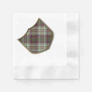 Tartán del escocés de la tela escocesa del clan de servilleta desechable