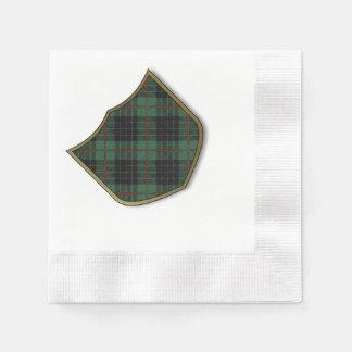 Tartán del escocés de la tela escocesa del clan de servilletas desechables