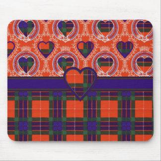 Tartán del escocés de la tela escocesa del clan de tapete de raton