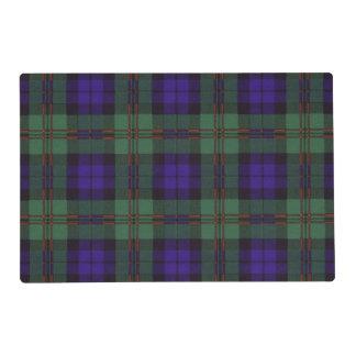 Tartán del escocés de la tela escocesa del clan de tapete individual