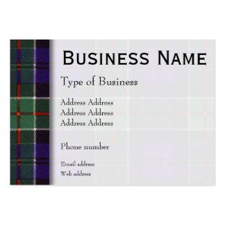 Tartán del escocés de la tela escocesa del clan de tarjeta de visita