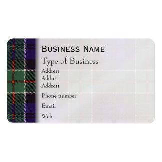 Tartán del escocés de la tela escocesa del clan de plantillas de tarjetas personales