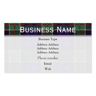 Tartán del escocés de la tela escocesa del clan de tarjetas de visita
