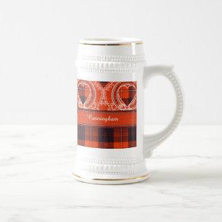 Tartán del escocés de la tela escocesa del clan de jarra de cerveza
