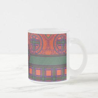 Tartán del escocés de la tela escocesa del clan de taza cristal mate