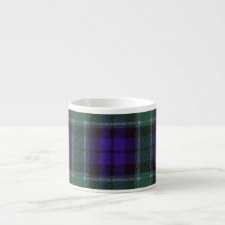 Tartán del escocés de la tela escocesa del clan de taza espresso