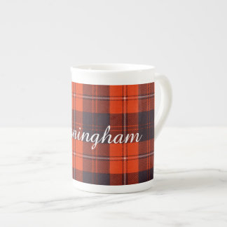Tartán del escocés de la tela escocesa del clan de taza de porcelana