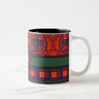 Tartán del escocés de la tela escocesa del clan de taza de dos tonos