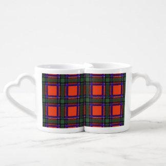 Tartán del escocés de la tela escocesa del clan de taza para enamorados