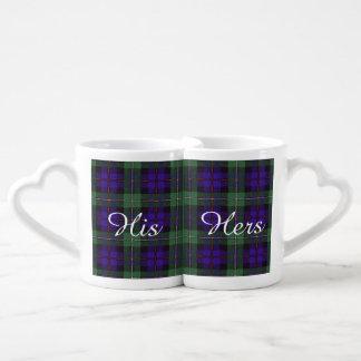 Tartán del escocés de la tela escocesa del clan de tazas amorosas