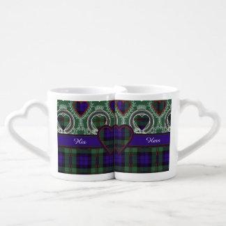Tartán del escocés de la tela escocesa del clan de tazas para parejas