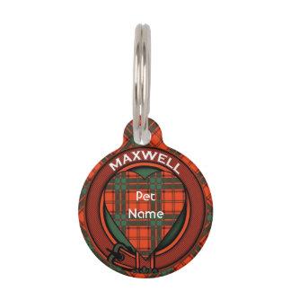 Tartán del escocés de la tela escocesa del clan placas para mascotas