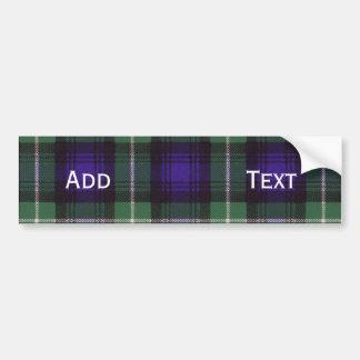 Tartán del escocés de Lamont Pegatina Para Auto