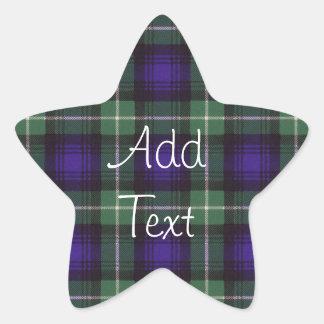 Tartán del escocés de Lamont Pegatina En Forma De Estrella