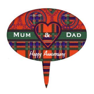 Tartán del escocés de Macfarlane Figura Para Tarta