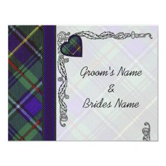 Tartán del escocés de MacInnes Invitaciones Personales