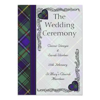 Tartán del escocés de MacInnes Invitacion Personalizada
