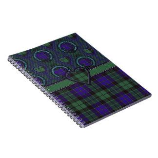 Tartán del escocés de Mackay Libro De Apuntes Con Espiral