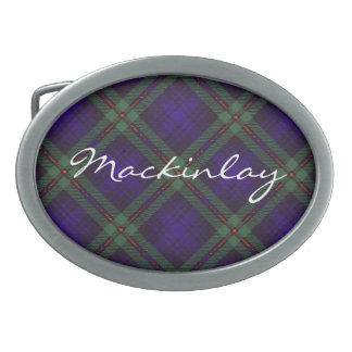 Tartán del escocés de Mackinlay Hebilla De Cinturon